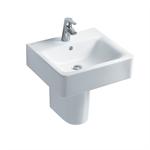 concept cube 50cm washbasin, pedestal or furniture 1 taphole