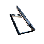 roto side-hung roof window designo r3 timber