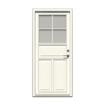 Forma Premium entrance door inward with panels and glass