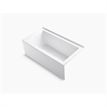 """underscore 60"""" x 32"""" alcove bath with integral apron, integral flange and right-hand drain"""