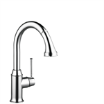 M5316-H240 Single lever kitchen mixer with pull-out spray 73870000