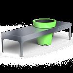 a-linéa backless bench