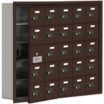 19100 Series Cell Phone Lockers-Recessed Mounted-5 Door High Units-5 Inch Deep Compartments