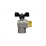 Progress F-M right angle ball valve with butterfly handle