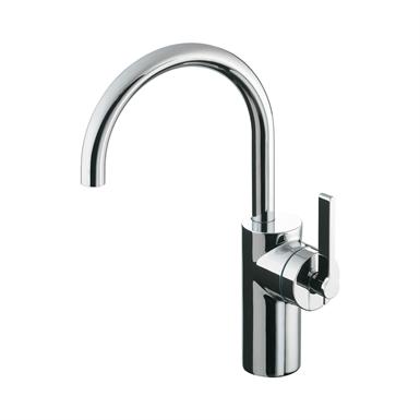 silver vessel basin mixer 1 hole single lever no waste