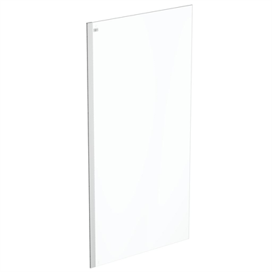 connect 2 wet room panel 100 clear glass bright silver finish