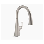 graze™ touchless pull-down kitchen sink faucet with three-function sprayhead
