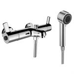 SK Thermofit, Miscelatore per bagno, Comfort, sporgenza 170 mm, dist. 153 mm, c. raccordi, c. accessori