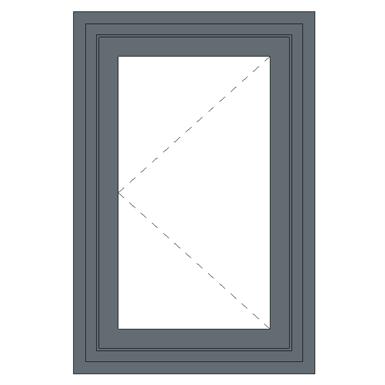 aluminium single casement fire window