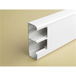 snap-on trunking - 2 compartment - 50 x 145 - with cover 45 mm - 2 m - white