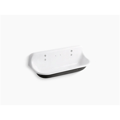 brockway™ 4' wall-mounted wash sink with 2 faucet holes