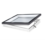 electrically vented glass rooflight w. flat glass cvu isu2093