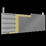 doppelte aussenfassade stahl oder aluminiumlamenllen verlegung v vollständige platten mit dämmung