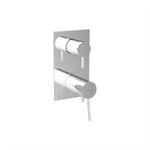 UNIC 4 outlets - vertical rosette - dual lever shower/bath mixer