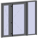 grand trafic doors - double outward with opening right fixed