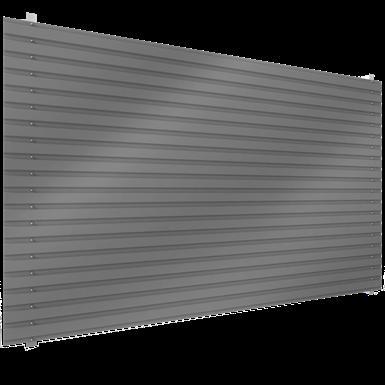 steel single skin cladding in horizontal position
