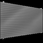 bardage en acier simple peau en pose horizontale