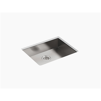 "k-3894-4 vault™ 25"" x 22"" x 6-5/16"" single bowl dual-mount kitchen sink with 4 faucet holes"
