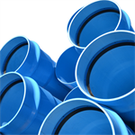 PN25 PVC-O TOM pipe -  Water supply