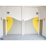1/2 porte decorative bicolore