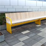 Värtan, backed bench, extension section