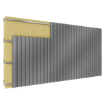 cladding with 2 skins