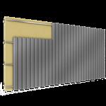 zwei getrennte fassadenplatten