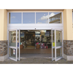 automatic sliding door, el301 breakout frameless glass wall-hosted