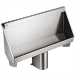 kinloch 2 urinal 1200mm pol s/s