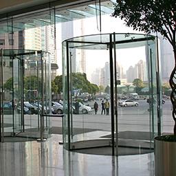 crystal tq (usa) all glass - revolving door