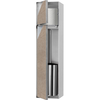 Toilet brush holder & Storage compartment with door - TCL-10