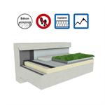 systèmes pour toiture terrasse végétalisée isolation béton en climat de montagne