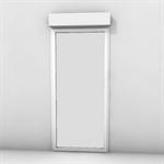 single door with shutter