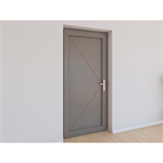 single entrance door pvc