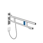 stützklappgriff duo, design b mit wc-papierhalter und spülauslösung