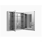 "verdera® aluminum medicine cabinet with adjustable flip-out flat mirror, 40"" w x 30"" h"