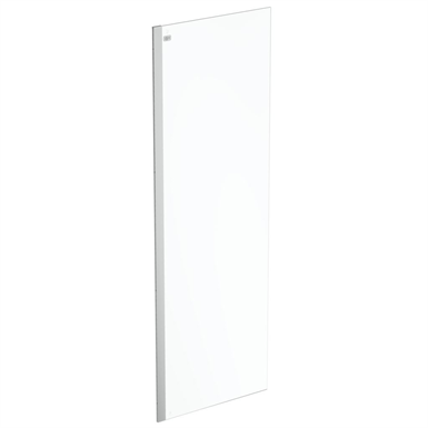 connect 2 wet room panel 70 clear glass bright silver finish