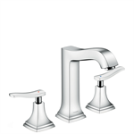 Metropol Classic 3-hole basin mixer 160 with lever handles and pop-up waste set 31331000