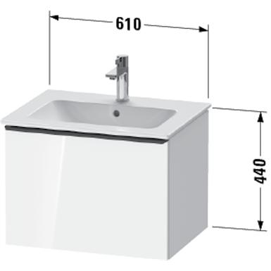 de4261 d-neo vanity unit wall-mounted