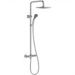 july - shower column with thermostatic mixer and square showerhead