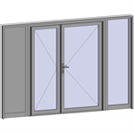grand trafic doors - anti finger pinch version - double inward opening with 2 fixed