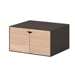 Box Black Module Black Small With Oak Door