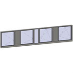horizontal strip windows - 7 zones