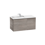 BEYOND Unik (base unit with two drawers, one door and SURFEX® basin on the left)