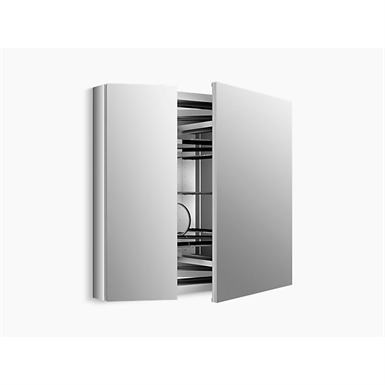 "verdera®aluminum medicine cabinet with adjustable flip-out flat mirror, 34"" w x 30"" h"