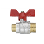 Ball valve  TOP Male - Male  with butterfly handle