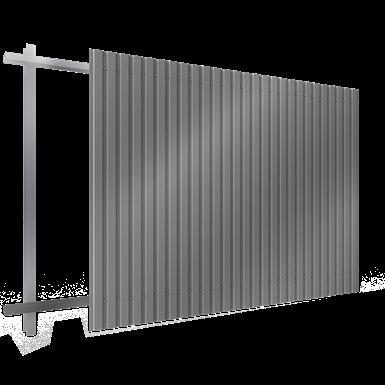steel single skin cladding in vertical position