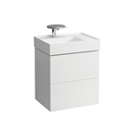 KARTELL BY LAUFEN Vanity unit for 810334, 2 drawers, incl. drawer organiser, matches washbasin 810334
