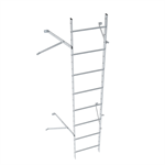 Wall ladder system with 550 offset