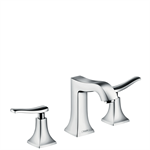 Metris Classic 3-hole basin mixer 100 with pop-up waste set 31073000